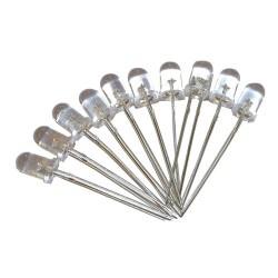 LED 5mm biała ciepła CLEAR x 10szt