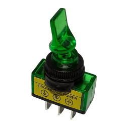 Przełącznik ASW-14D hebelkowy podśw. 12V zielony