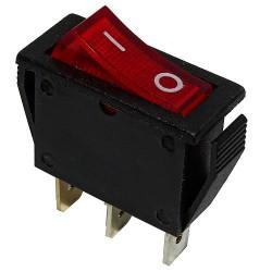 Przełącznik MK111 czerwony 12V podświetlany