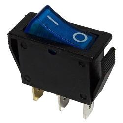 Przełącznik MK111 niebieski 230V podświetlany