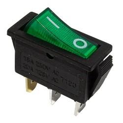 Przełącznik MK111 zielony 230V podświetlany