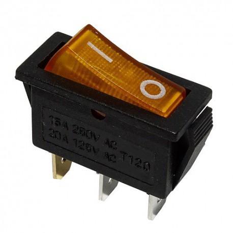 Przełącznik MK111 żółty 230V podświetlany