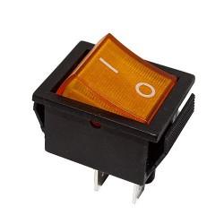 Przełącznik MK621 podśw. szeroki 12V pomarańczowy