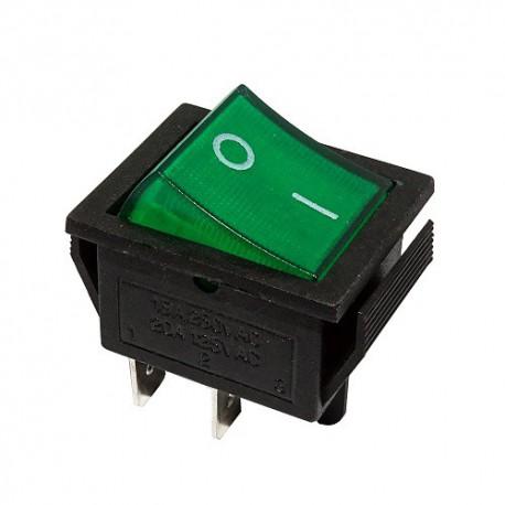 Przełącznik MK621 podśw. szeroki 12V zielony
