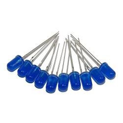 Dioda LED 5mm niebieska matowa x 10szt