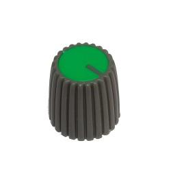 Gałka pot. szara śred:15mm GS15 zielona