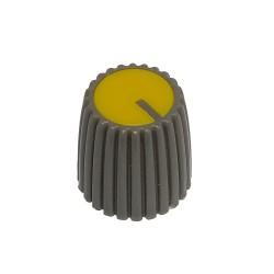 Gałka pot. szara śred:15mm GS15 żółta