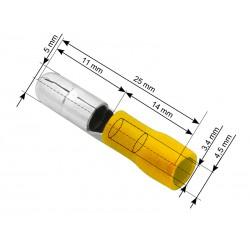 Konektor izolowany wtyk 5,0/25 żółty x10szt