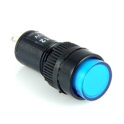 Kontrolka 12mm 12V DC niebieska