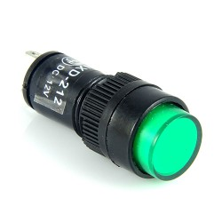 Kontrolka 12mm 12V DC zielona