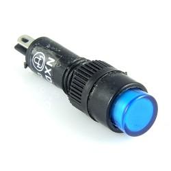 Kontrolka 8mm 12V DC niebieska