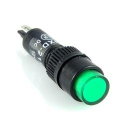 Kontrolka 8mm 12V DC zielona