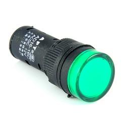 Kontrolka LED 19mm 12V AC/DC zielona