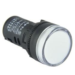 Kontrolka LED 28mm 12V AC/DC biała